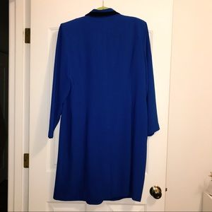 Danny & Nicole Jackets & Coats - Vintage '80s Royal Blue Button Up Blazer Dress